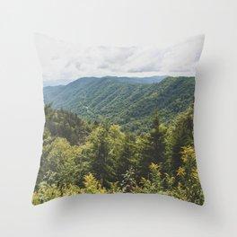 Smoky Mountain Haven - Nature Photography Throw Pillow