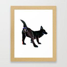 spacedog Framed Art Print