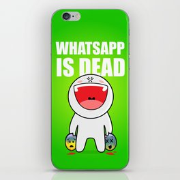 Whatsapp is dead iPhone Skin