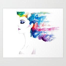 Vibrant Rush Art Print