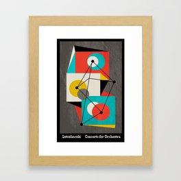 Lutoslawski Concerto for Orchestra Framed Art Print