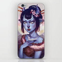 Oni Girl OC iPhone Skin
