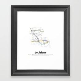 Highways of the USA – Louisiana Framed Art Print