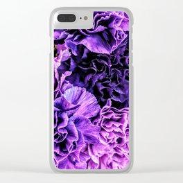 Purple Bouquet II Clear iPhone Case