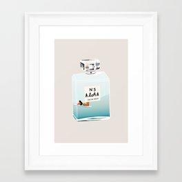 No.5 Aloha, hawaii art, aloha art, summer art, perfume art Framed Art Print