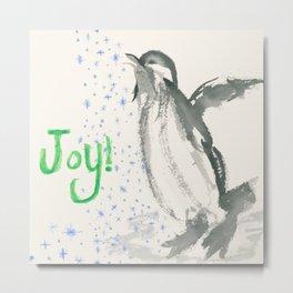 Joyful Penguin Metal Print