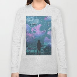 Cosmic Life in Aquarium Long Sleeve T-shirt