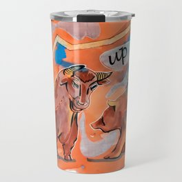 finance and crises illustation Travel Mug