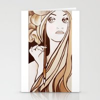 mucha Stationery Cards featuring My Mucha by Little Bunny Sunshine