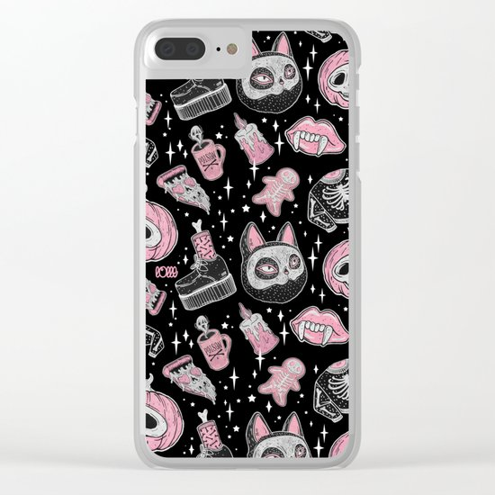 SPOOKS OR CREEPS Clear iPhone Case