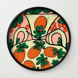 Strawberry pot Wall Clock