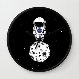rolling in space Wall Clock
