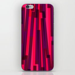 Geometric Pink Purple Painting iPhone Skin