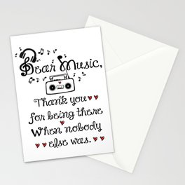 Dear music Stationery Cards