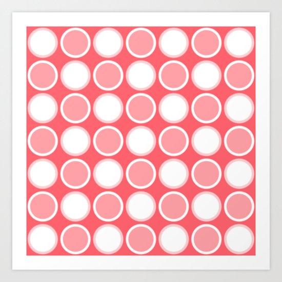 Circle Coral Art Print