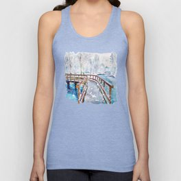 Winter in the Park Unisex Tank Top