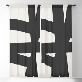 Neutral Abstract 1A Blackout Curtain