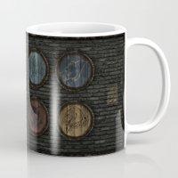 skyrim Mugs featuring Shield's of Skyrim by VineDesign