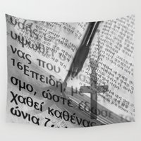 bible Wall Tapestries featuring Multilingual Bible Study by Clayton Jones