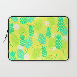Watermelons and pineapples in yellow Laptop Sleeve