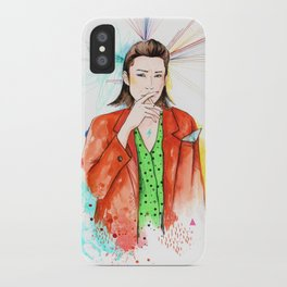Red boy iPhone Case