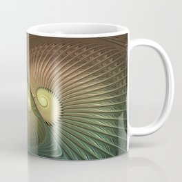 Fractal Spirals, Luminous And Psychedelic Coffee Mug