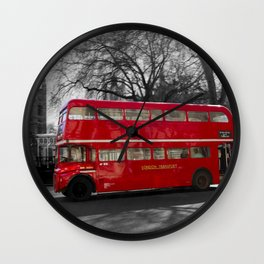 Red Routemaster bus Wall Clock