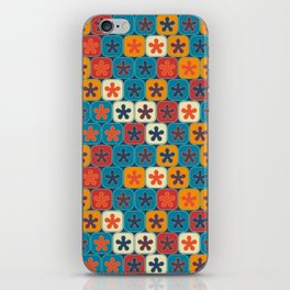 Blobs and tiles iPhone Skin