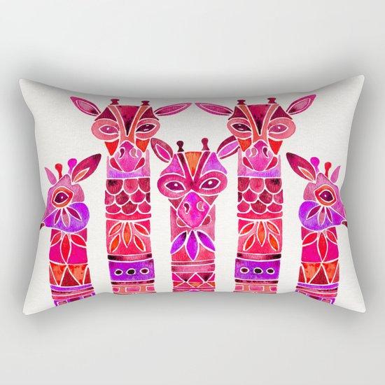 Giraffes – Magenta Ombré Rectangular Pillow