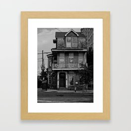 The house on the corner Framed Art Print