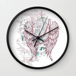 Angels Lyrics Flying Wall Clock
