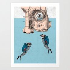 Boys don't cry? Art Print