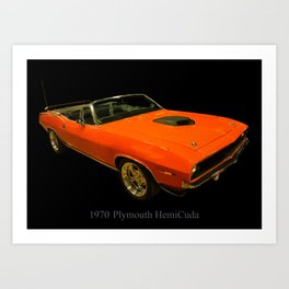 1970 Plymouth Hemicuda Convertible Art Print