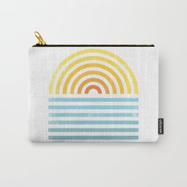 Retro Sunset Carry-All Pouch