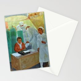 African American Masterpiece WPA Mural Harlem Hospital Education & Medicine - Pursuit of Happiness Stationery Cards