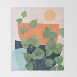 Nature Geometry IX Throw Blanket