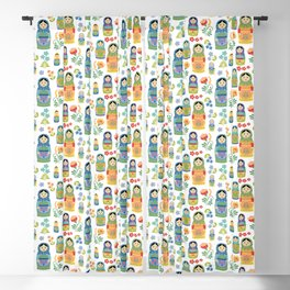 Russian Nesting Dolls Blackout Curtain