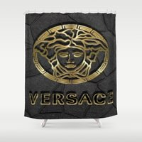 versace Shower Curtains featuring versace 2 by Beauti Asylum