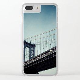 Moody Manhattan Clear iPhone Case