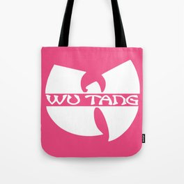 white in pink wu-tang Tote Bag