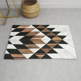 Urban Tribal Pattern No.9 - Aztec - Concrete and Wood Rug