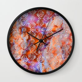 Psicodelic Adventure - Magenta & Orange Wall Clock
