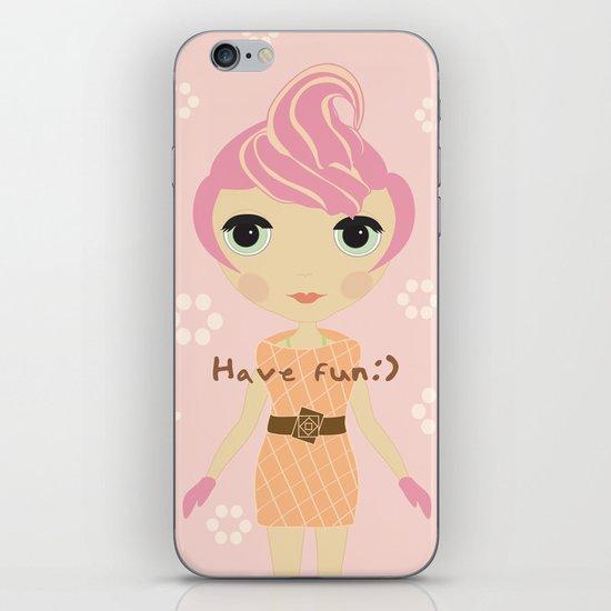 Ice-cream Girl iPhone & iPod Skin