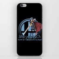 smash bros iPhone & iPod Skins featuring Lucina - Super Smash Bros. by Donkey Inferno