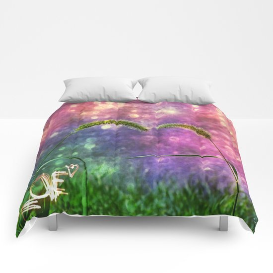 Grass Duo Love And Sparkle Comforters