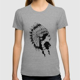 Womens INDIAN PRINCESS Native American whistle native american T-shirt