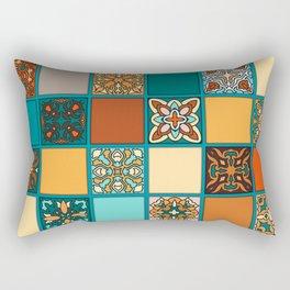 Vintage patchwork with floral mandala elements Rectangular Pillow