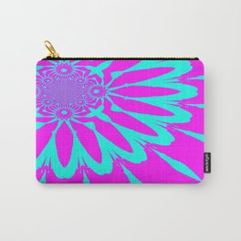 The Modern Flower Fushia & Turquoise Carry-All Pouch