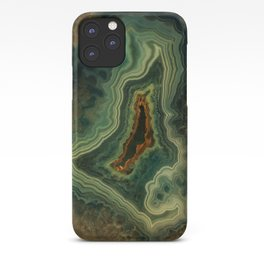 The world of gems - green agate iPhone Case