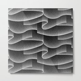 Aurora Borealis_Black and White Metal Print